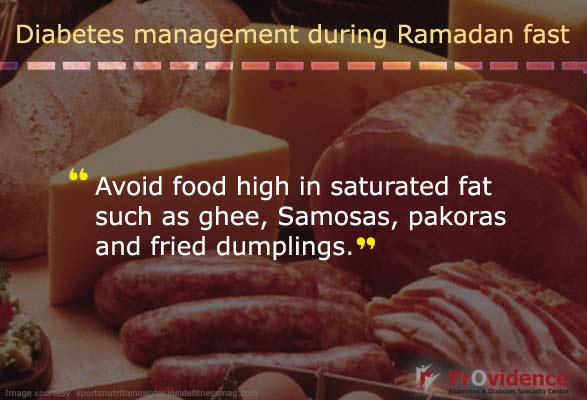 Avoid foods with saturated fats this Ramadan