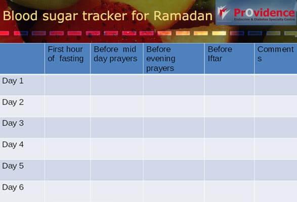 Track your blood sugar this Ramadan