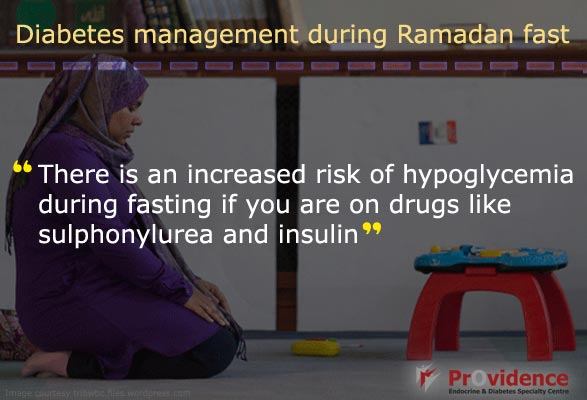 Reduce the risk of Hypoglycemia during Ramadan Fasting