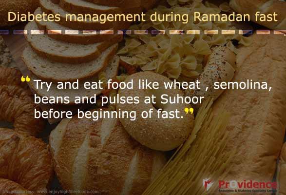 Eat wheat, semolina and pulses before Ramadan fast