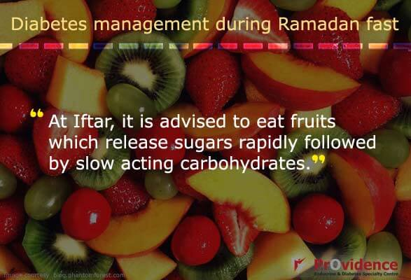 Eat fruits at Iftar to get required sugar