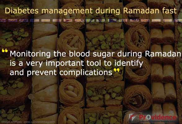 Monitor blood sugar during Ramadan