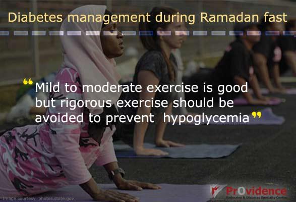 Avoid rigorous exercise during Ramadan